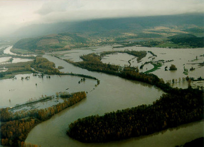 Skagit River During 1995 Flood